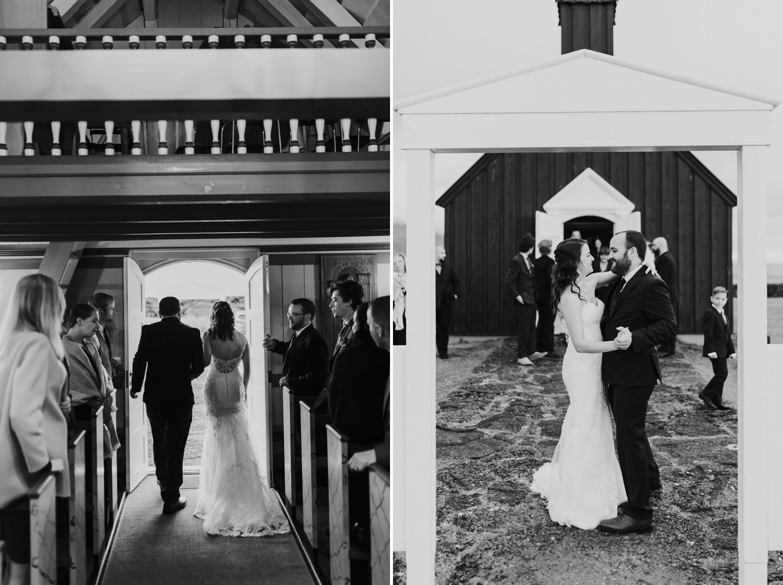 Black Church Iceland Wedding - Sheri & Derek | M&J Studios