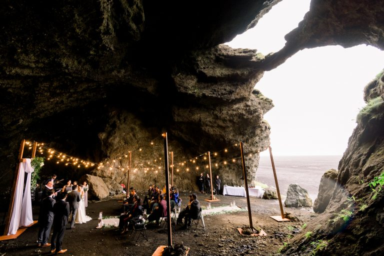 Hjorleifshofdi Yoda Cave wedding ceremony in Iceland